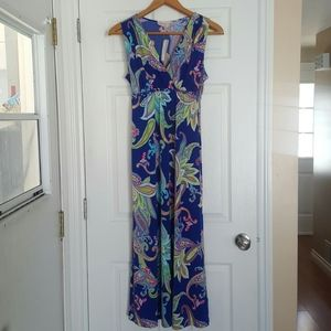 Philosophy womens floral sleeveless maxi dress PL
